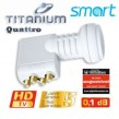LNB Quattro Smart-Titanium Gold TQ 0,1dB 40 mm FULLHD 3D Digital tauglich