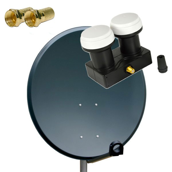 antenne premiumx sat sch ssel spiegel 80 cm alu pxa80 anthrazit aluminium digitale sat anlage. Black Bedroom Furniture Sets. Home Design Ideas