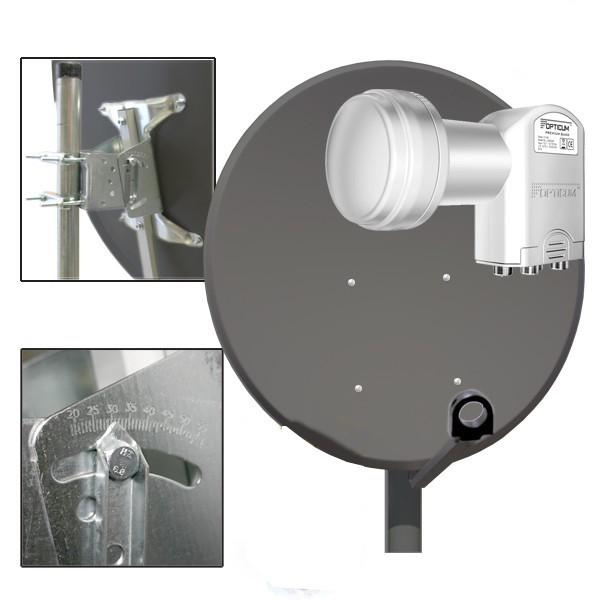 100cm sat antenne sch ssel spiegel in anthrazit stahl. Black Bedroom Furniture Sets. Home Design Ideas